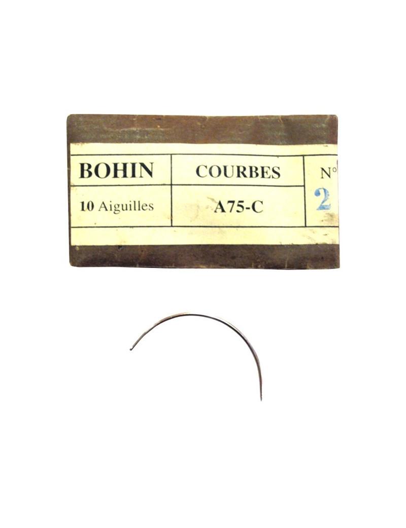 10 AIGUILLES COURBES TAPIS / MATELAS A75C (12718)