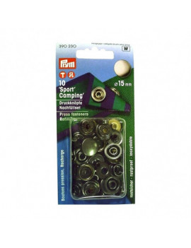 Bouton pression sport-camping 15mm
