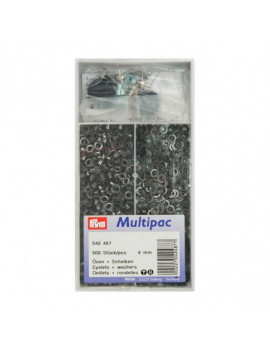 OEILLETS 4MM BRUNI MULTIPAC 500PCS + OUTIL DE POSE