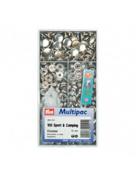 Boutons pressions sport-camping 15mm multipacs