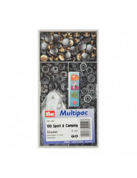 BOUTONS PRESSIONS SPORT & CAMPING BRUNI 15MM MULTIPAC 100PCS