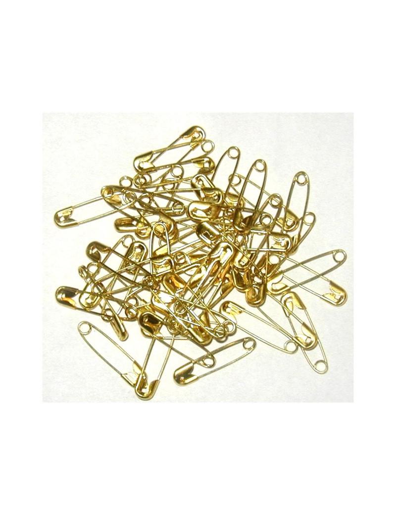 Epingle de sûreté dorées