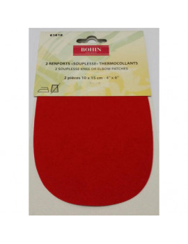RENFORT SOUPLE THERMOCOLLANT ROUGE PAR 2