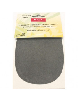 RENFORT SOUPLE THERMOCOLLANT GRIS PAR 2