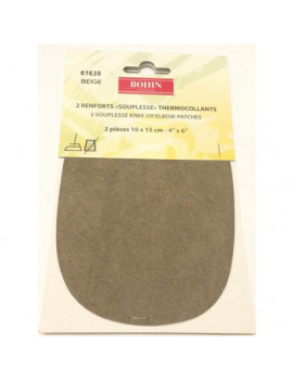 RENFORT SOUPLE THERMOCOLLANT BEIGE PAR 2