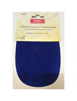 RENFORT SOUPLE THERMOCOLLANT BLEU RAF PAR 2