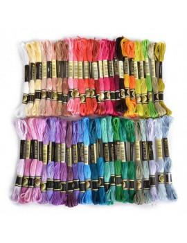 fil à broder coton 8m - couleurs