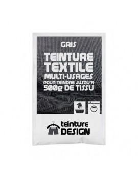 """TEINTURE TEXTILE """"GRIS"""" 1 SACHET DE 10 GR POUR 500 GR DE TISSU"""