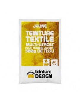 """TEINTURE TEXTILE """"JAUNE"""" 1 SACHET DE 10 GR POUR 500 GR DE TISSU"""