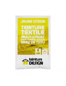 """TEINTURE TEXTILE""""JAUNE CITRON"""" 1 SACHET DE 10 GR POUR 500 GR DE TISSU"""