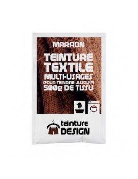 """TEINTURE TEXTILE""""MARRON"""" 1 SACHET DE 10 GR POUR 500 GR DE TISSU"""