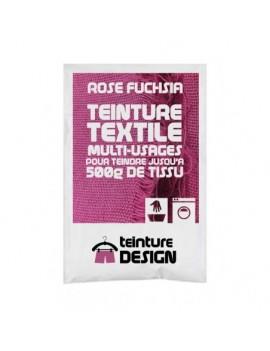 TEINTURE TEXTILE ROSE FUCHSIA 1 SACHET DE 10 GR POUR 500 GR DE TISSU