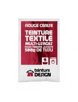 """TEINTURE TEXTILE """"ROUGE CERISE"""" 1 SACHET DE 10 GR POUR 500 GR DE TISSU"""
