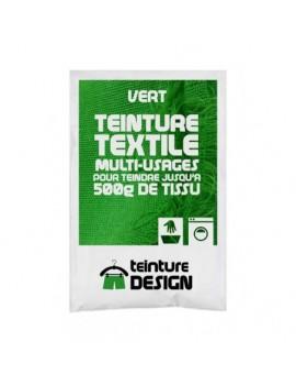 """TEINTURE TEXTILE """"VERT"""" SACHET DE 10 GR POUR 500 GR DE TISSU"""