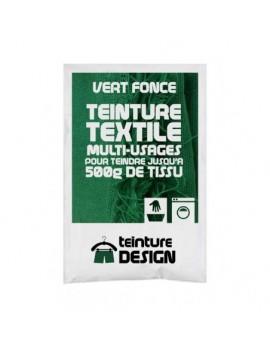 """TEINTURE TEXTILE""""VERT FONCE"""" 1 SACHET DE 10 GR POUR 500 GR DE TISSUS"""