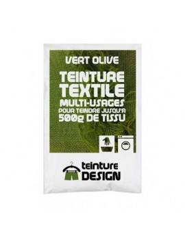 """TEINTURE TEXTILE """"VERT OLIVE"""" 1 SACHET DE 10 GR POUR 500 GR DE TISSU"""