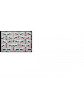 TISSU 100 % COTON ENDUIT IMPRIME GRUE 3 M