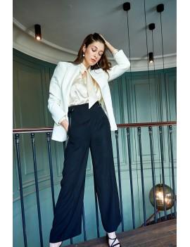 THEO - Pantalon droit taille haute - Noir