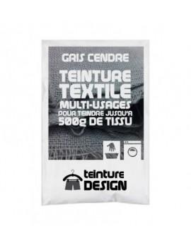 """TEINTURE TEXTILE """"GRIS CENDRE"""" 1 SACHET DE 10 GR POUR 500 GR DE TISSU"""
